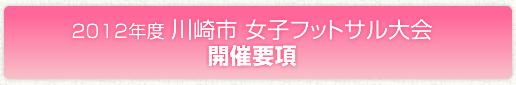2012年度川崎市 女子フットサル大会開催要項