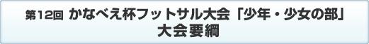 第12回 川崎市フットサル大会(少年少女の部)大会要項