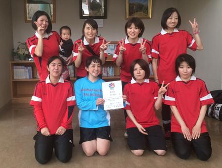 第18回かなべえ川崎市フットサル大会(女子の部 )3位:チームF